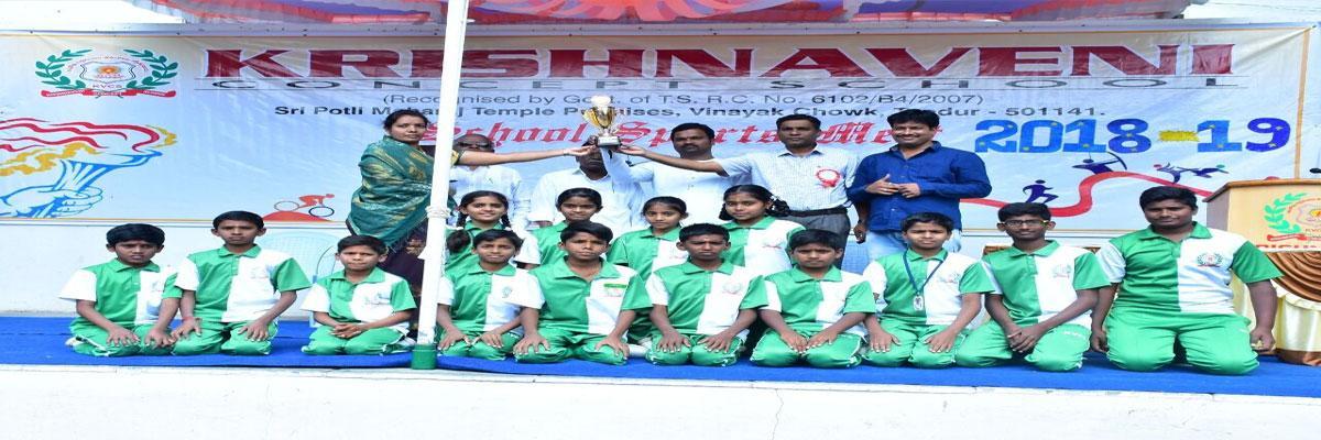 Krishnaveni School holds sports meet