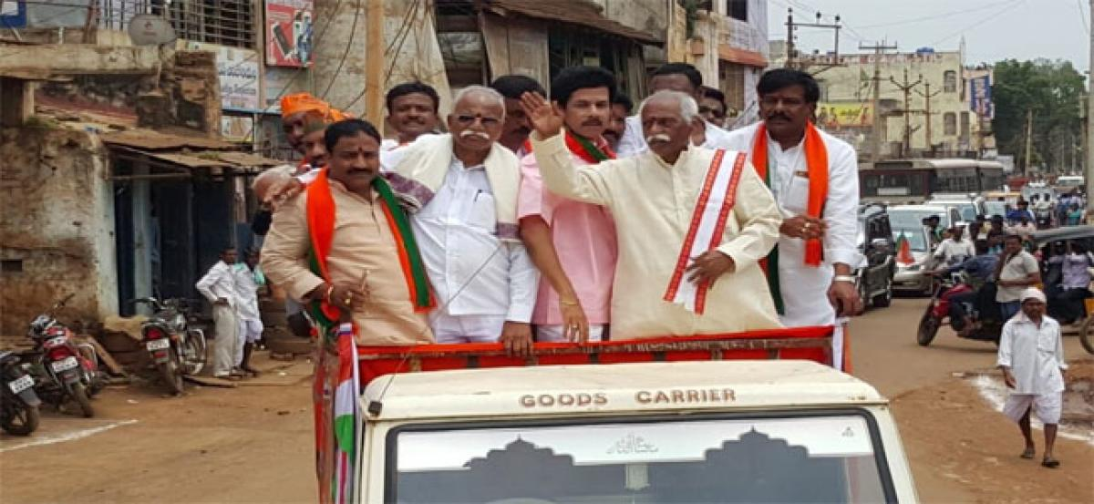 Bussa Srikanth of TRS joins BJP
