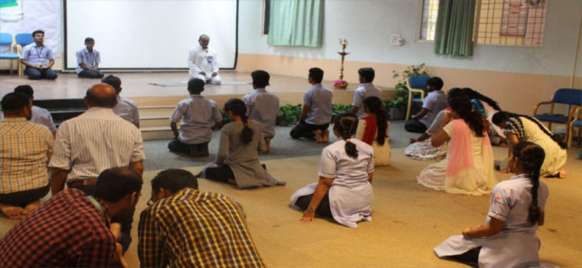 St Peter's Engg College celebrates Yoga Day