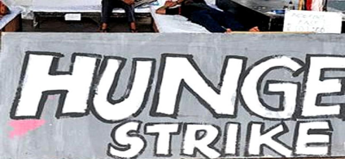 Medical representatives observe hunger strike