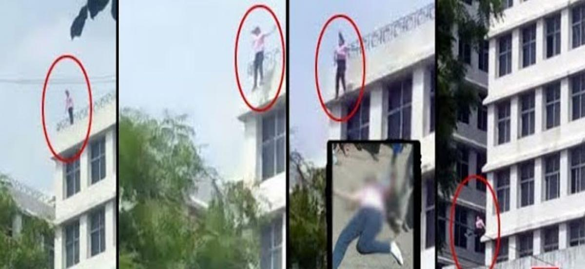 Girl commits suicide by jumping off building in Abids