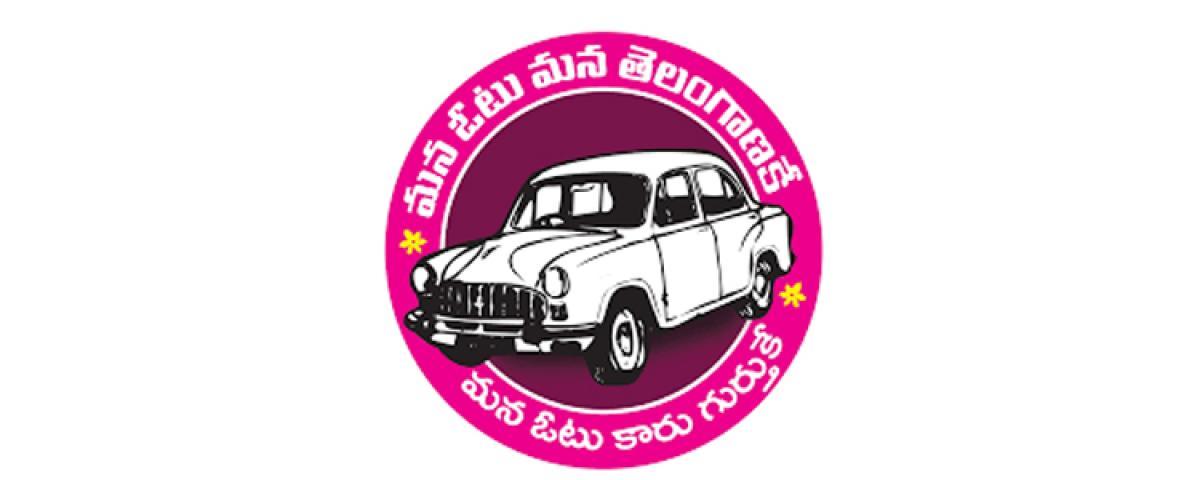 TRS Bhongir candidate door-to-door campaign in Chandupatla