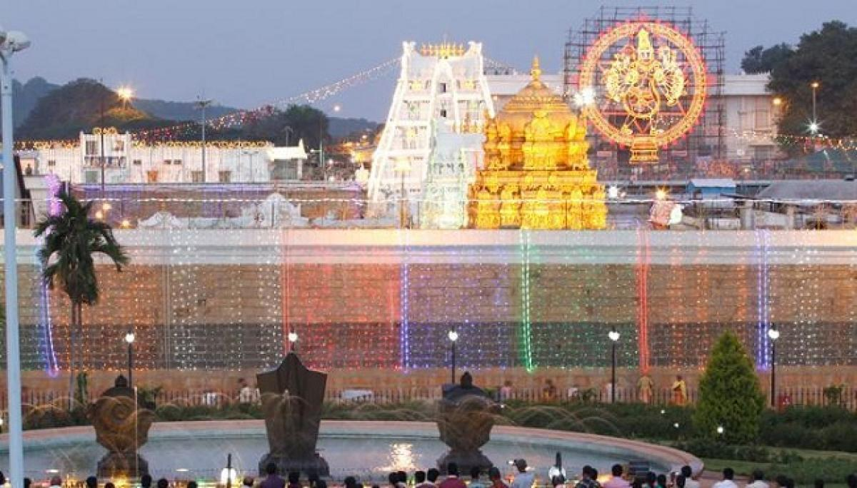 At Tirumala Temple, Daily Collections Drop 6 Times