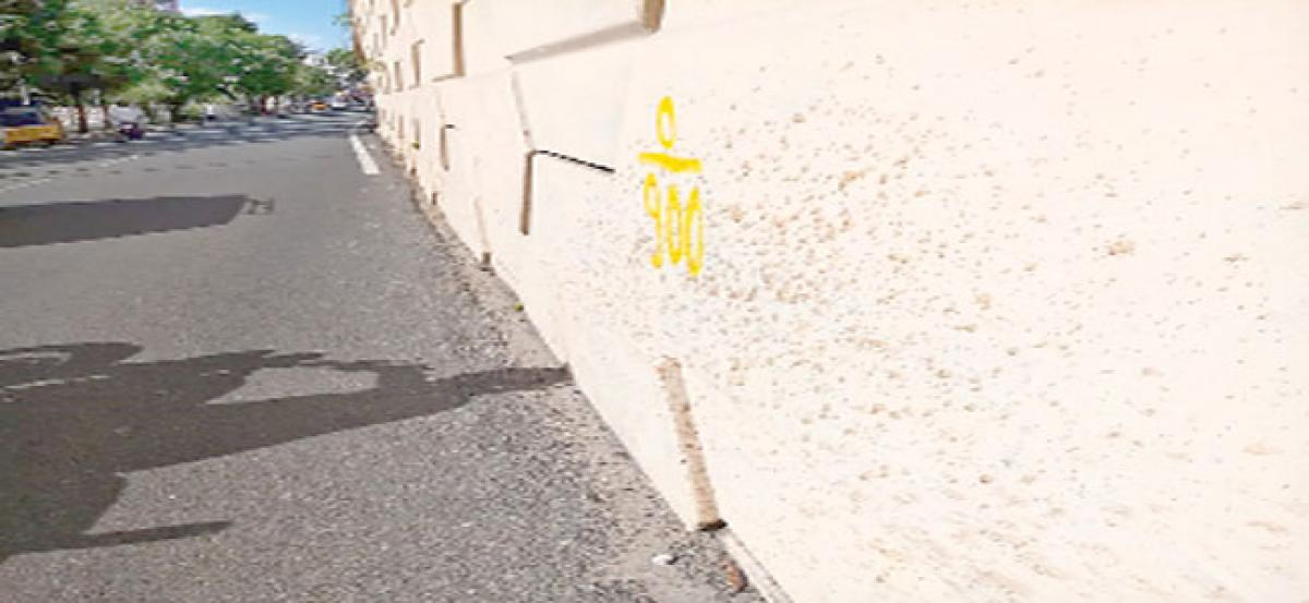 Tobacco stains deface whitewashed flyovers