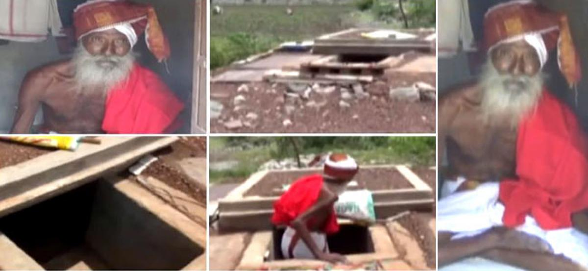Guntur: Man wishes to bury himself alive, builds a living tomb