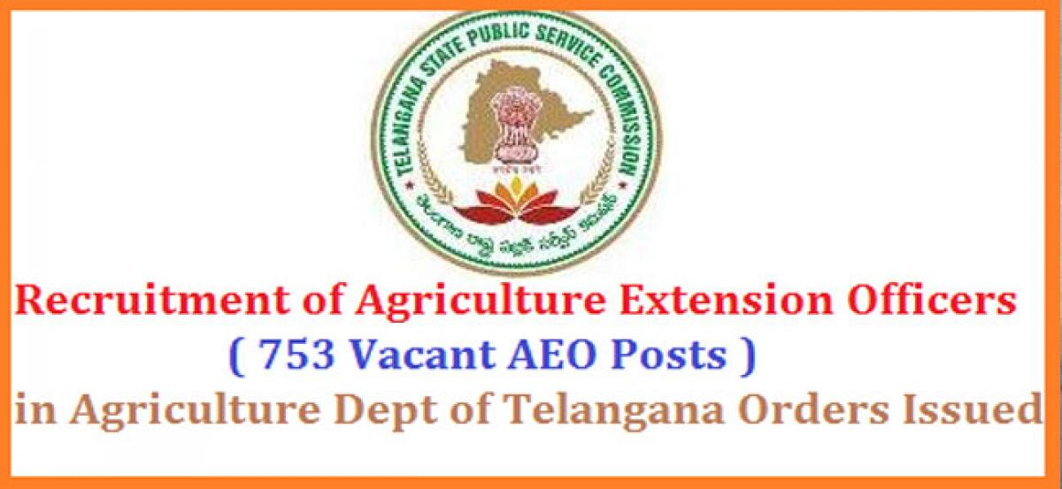 Telangana State Public Service Commission to fill 753 posts