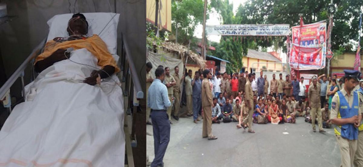 TSRTC worker attempts suicide at Barkatpur depot