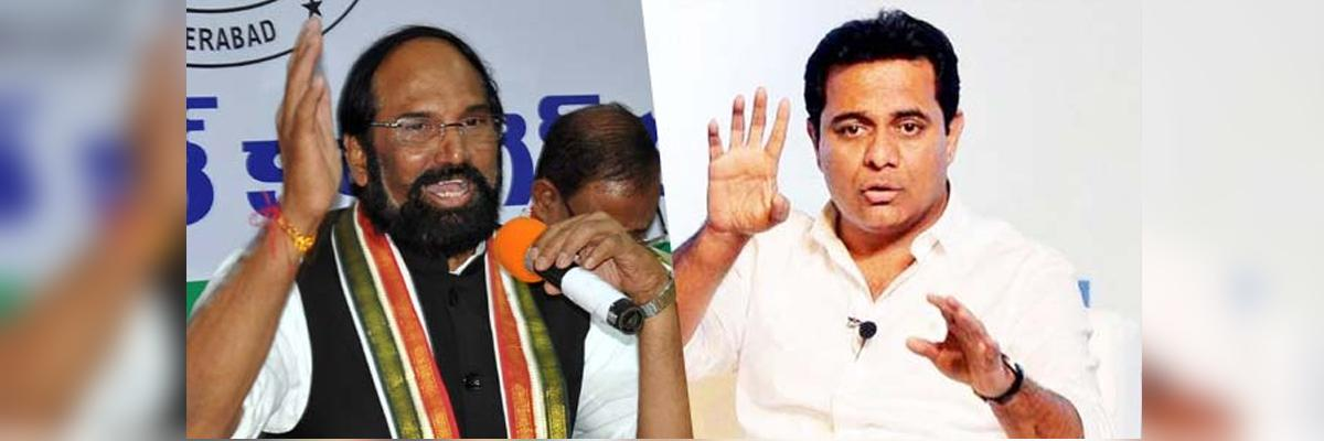 Telangana Assembly Elections 2018 :  Uttam fitting reply to KTR over his comments on Congress