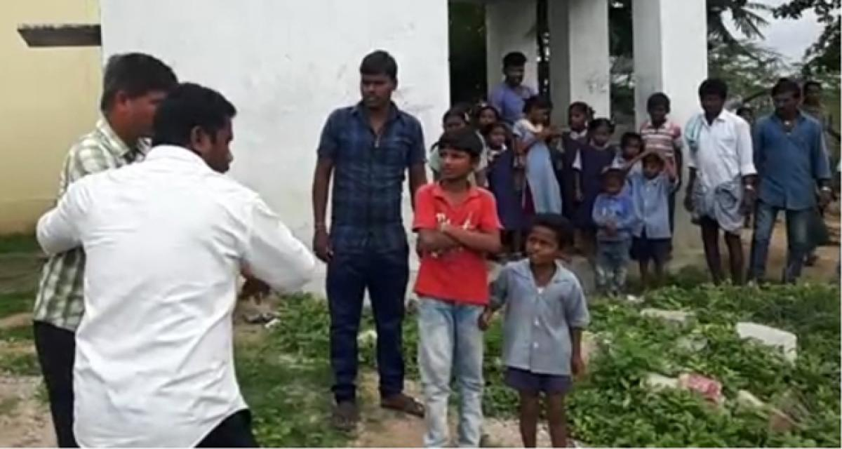Lazy teachers face villagers wrath, dragged out of school