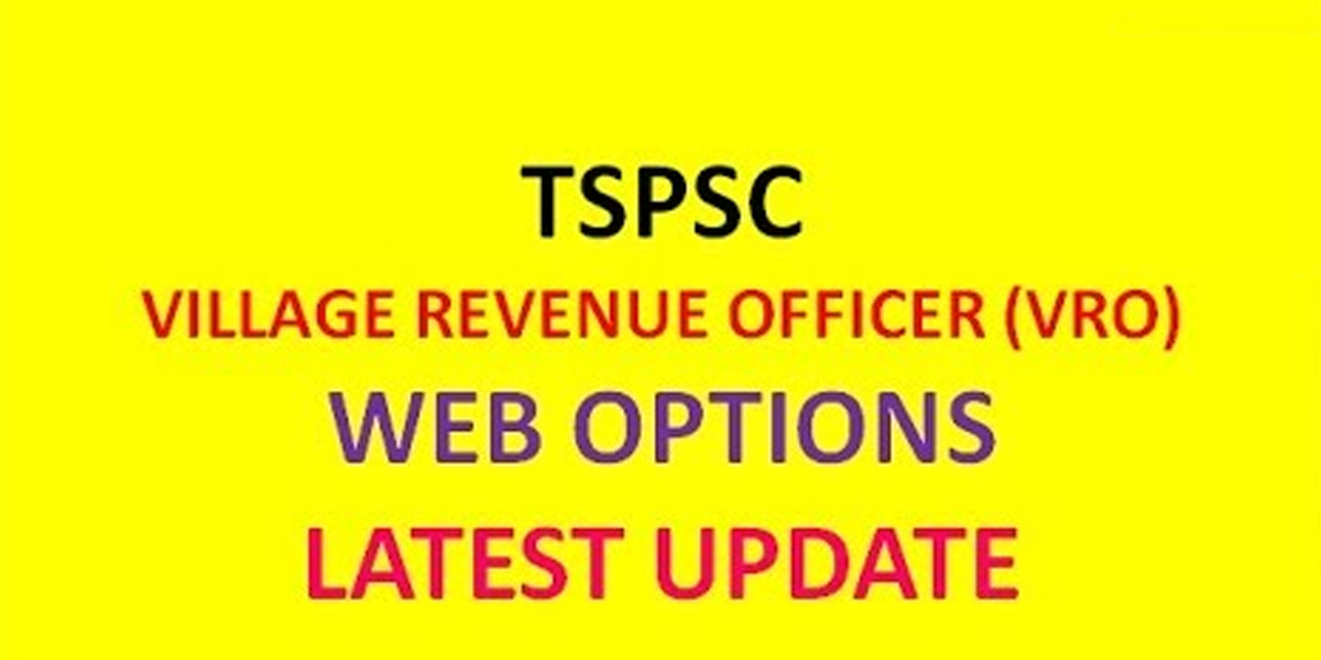 TSPSC VRO web options to be open from Jan 4