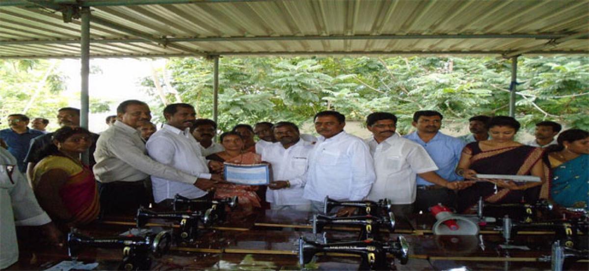 Gangavaram Port Limited distributes sewing machines