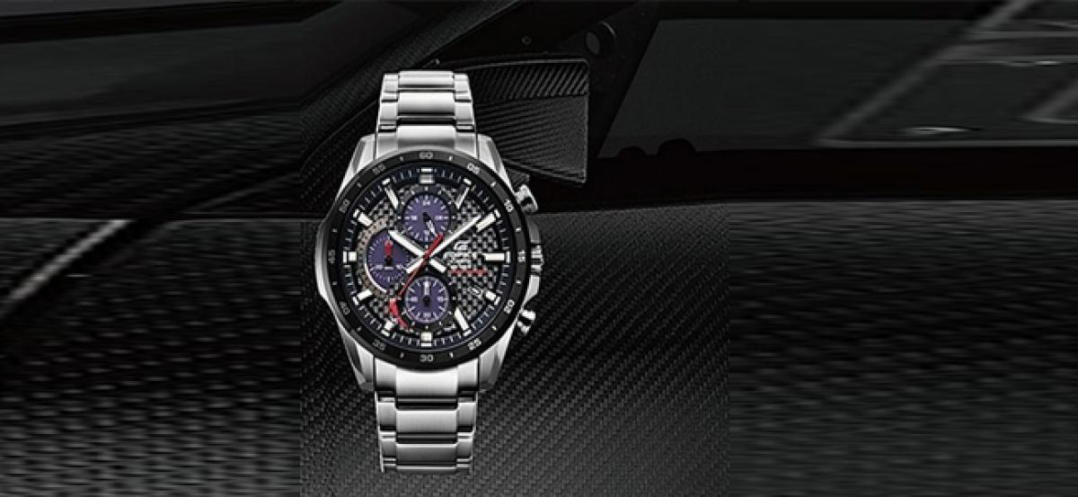 Casio to release motorsports-inspired EDIFICE with carbon fiber dial