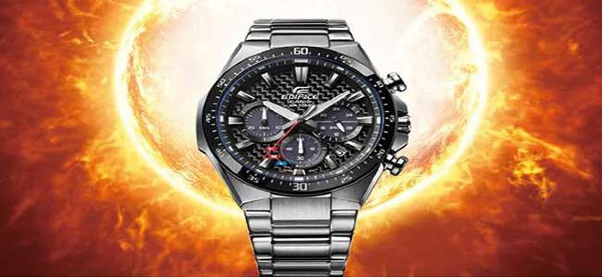 Casio to release EDIFICE Solar Chronograph featuring carbon fiber dial
