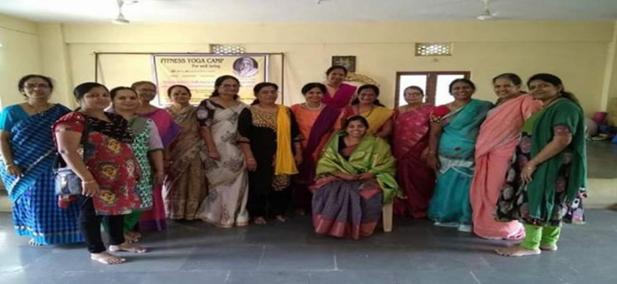 Corporator takes part in Yoga school anniversary