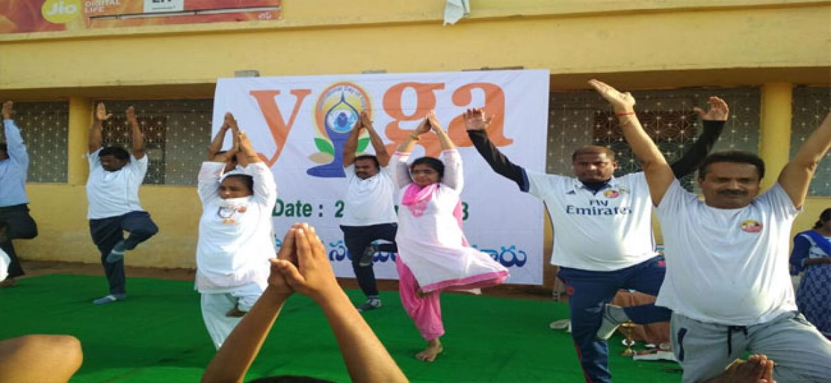 Yoga Day observed